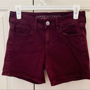 American Eagle Super Stretch High Waisted Shorts.